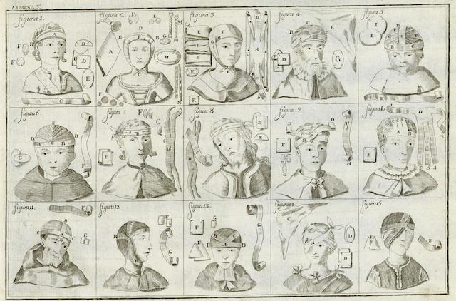 CANIVELL (FRANCISCO)  Tratato de vendages y apositas par uso de los Reales Colegios de Cirugia, 1809; and another (2)
