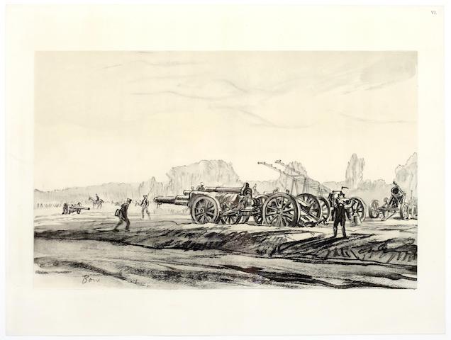 FIRST WORLD WAR BONE (MUIRHEAD) War Drawings, in 6 original parts
