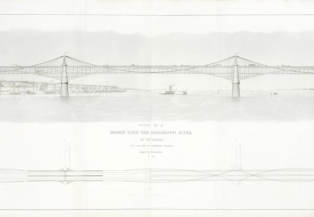 ROEBLING (JOHN A.) Long and Short Span Railway Bridges, 1869