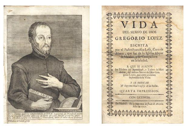 LOSA (FRANCISCO) Vida del siervo de Dios Gregorio Lopez, 1727