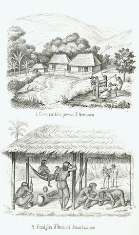 D'ORBIGNY (ALCIDE DESSALINES D') Viaggio pittoresco nelle due Americhe or riassunto generale di tutti i viaggi dalla prima scoperta fino ai nostri giorni, 2 vol.. 1852-1854