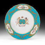 Two Minton Royal specimen plates, circa 1860-75 and dated 1872