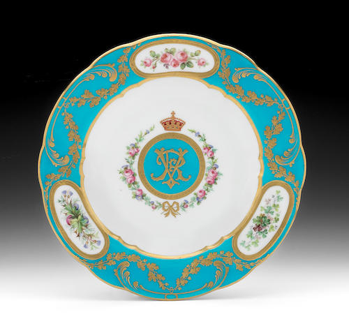 A Mintons Royal speciman plate, circa 1891-1900