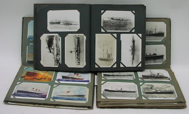 A collection of three postcard albums. 3