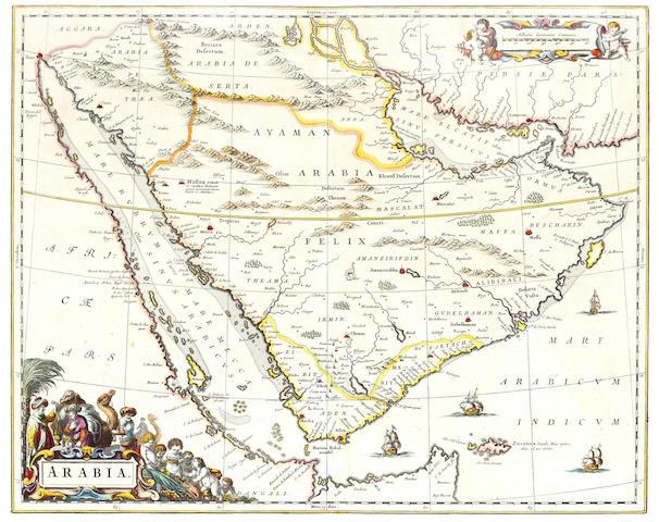 ARABIA BLAEU (WILLEM JANSZOON) AND JOAN BLAEU. Arabia, [Amsterdam, c.1661]