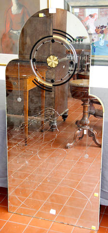 A Spirit of ecstacy 1930's exhibition mirror,