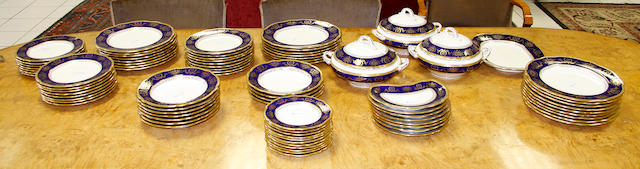 An extensive Coalport part dinner service Early 20th century