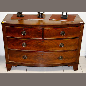 A 19th Century mahogany bowfront chest,