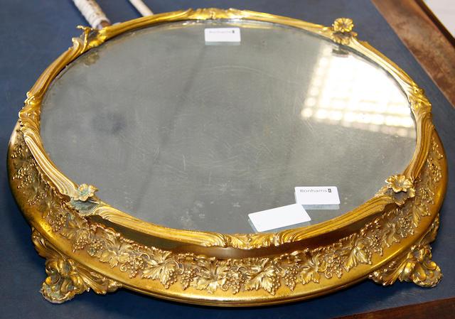 A gilt metal surtout de table