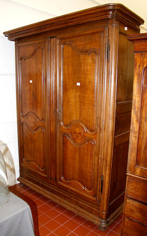 A French late 18th cent/early 19th cent oak armoire