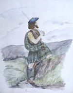 Three Sketch Books A sketchbook of approximately 45 pen and ink drawings of rural Scottish scenes by Mr. W.T. Ramsey