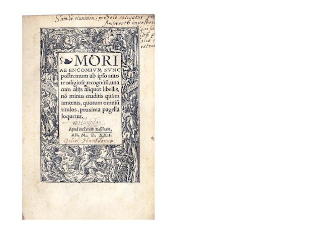 ERASMUS (DESIDERIUS) Moriae encomium, 1522
