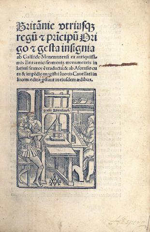 GEOFFREY, of Monmouth Britan[n]ie utriusq[ue] Regu[m], Paris, 1508