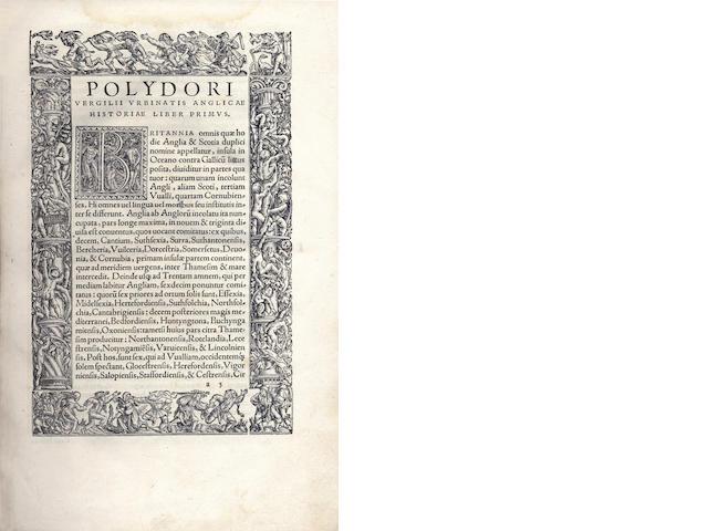 VERGIL (POLYDORE) Anglicae historiae libri XXVI, 1534