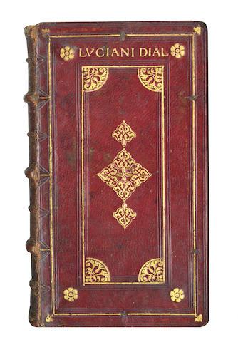 LUCIAN, of Samosata. Opuscula Erasmo Roterodamo [& Thomas More] interprete, 1516