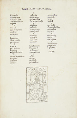 EUSEBIUS (PAMPHILIUS) De Evangelica praeparatione, Venice, 1497