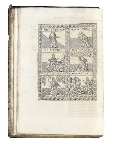 BIBLE, in Latin Biblia; cum concordantiis veteris et novi testamenti, Lyon, 1513