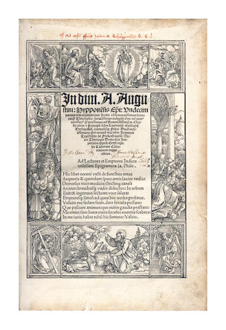TEUSCHLEIN (JOHANNES) In divi A. Augustini...undecim Parteis...Index, 1517; and 2 others (3)