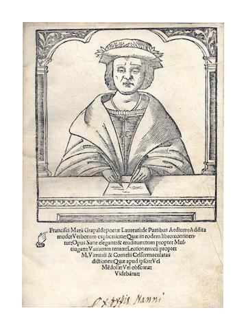 GRAPALDUS (FRANCISCUS MARIUS) De Partibus Aedium, 1516