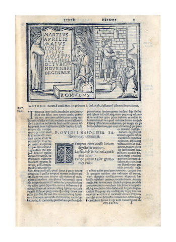 OVIDIUS NASO (PUBLIUS) Fastorum libri diligente emendatione, 1527; and another (2)
