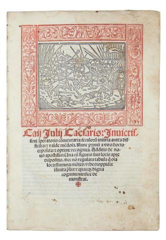 CAESAR (GAIUS JULIUS) Commentaria, 1517
