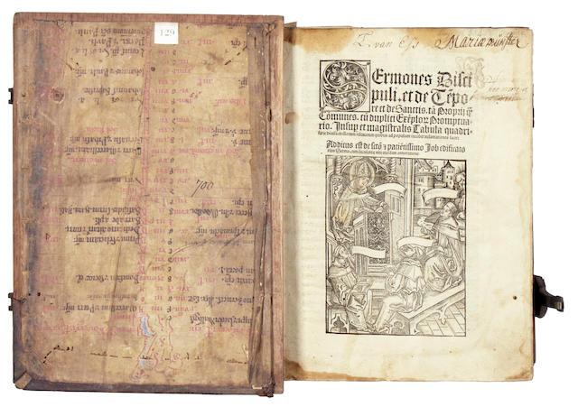HEROLT (JOHANNES) Sermones discipuli et de tempore et de sanctis, Cologne, 1504