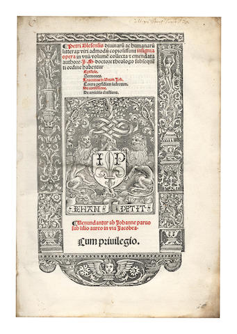 PETER of Blois. Insignia opera, 1519