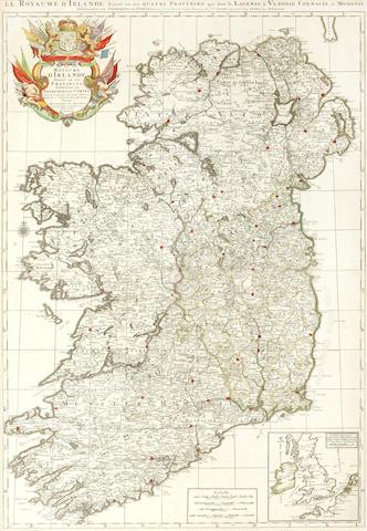 IRELAND SANSON D'ABBEVILLE (NICOLAS) Le Royaume d'Irelande, c.1695