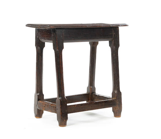 A large oak joint stool or table-stool Incorporating 17th/18th century timbers