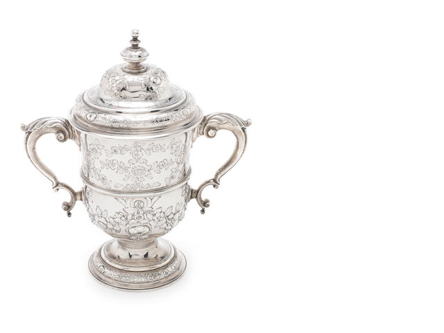 A George II silver two-handled cup and cover by Thomas Whipham, London 1753