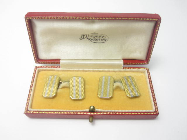 A pair of early 20th century 18ct gold cufflinks