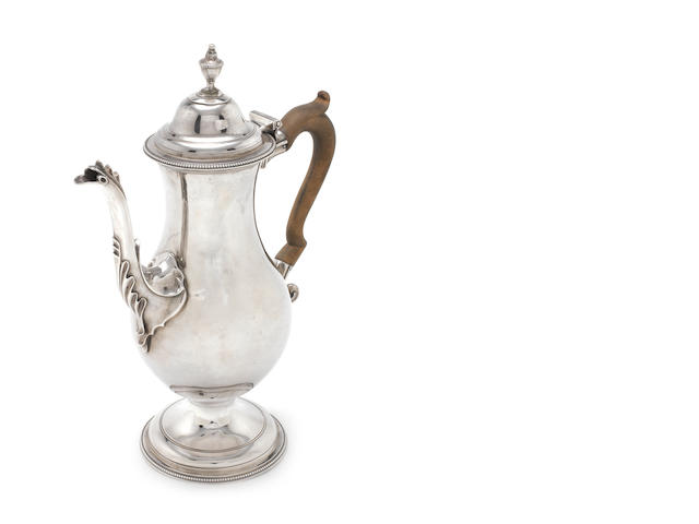 A George III  silver  chocolate pot probably by Joseph Steward II, London 1781