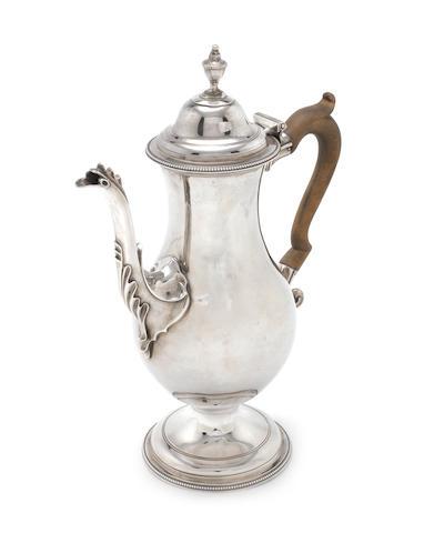 A George III  silver  chocolate pot probably by Joseph Steward II, London 1781