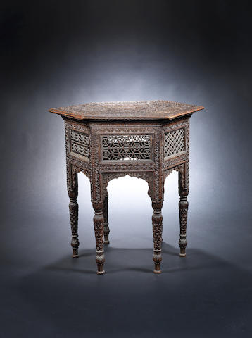 A Kashmiri wood Occasional Table