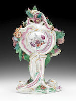 A rare Chelsea Sunflower clock case, circa 1760-65