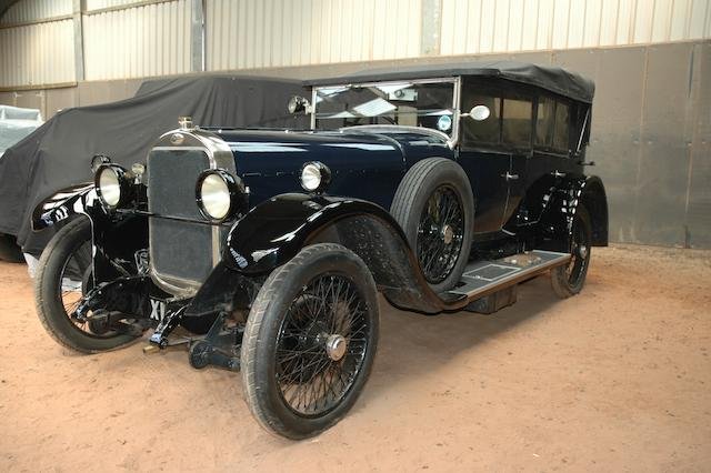 1925 Sunbeam 20/60hp Tourer  Chassis no. 1597ED Engine no. F20/1579/D