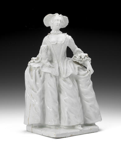 A Bow figure of Kitty Clive, circa 1750-52