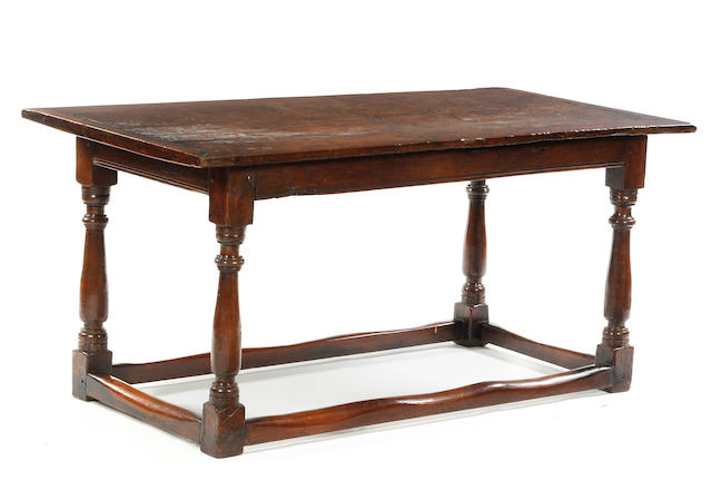 An oak refectory table Elements 18th century