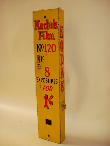 A Kodak Film No. 120 dispensing machine,