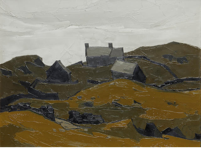 Sir Kyffin Williams R.A. (British, 1918-2006) 'Farm above Harlech'