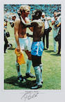 Pele hand signed print and picture
