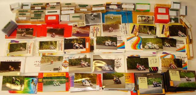 An archive of Isle of Man TT, Moto GP and other race photographs,
