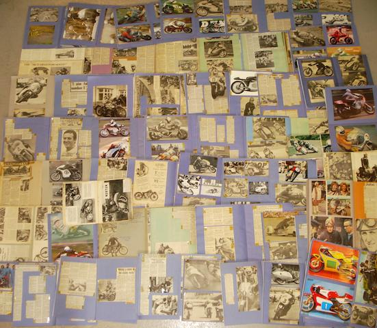 A quantity of scrapbooks relating to mainly post-War motorcycle racing,