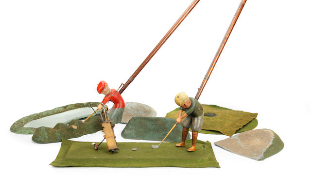 Schoenhut & Co.: A G712 Indoor Golf boxed set circa 1922
