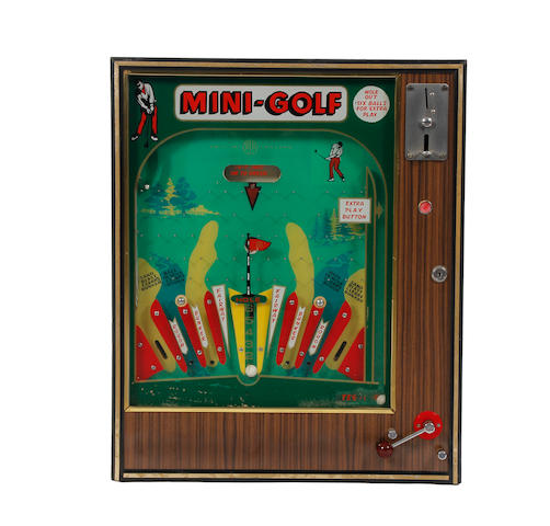 An arcade slot machine 'Master Golf Game' circa 1965