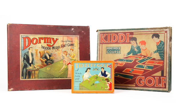 A collection of 4 early Edwardian and 20thCentury golf games
