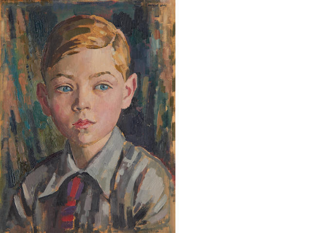 Alfred Neville Lewis (South African, 1895-1972) Portrait of a young boy