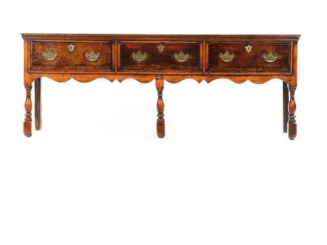 Oak dresser base circa 1700