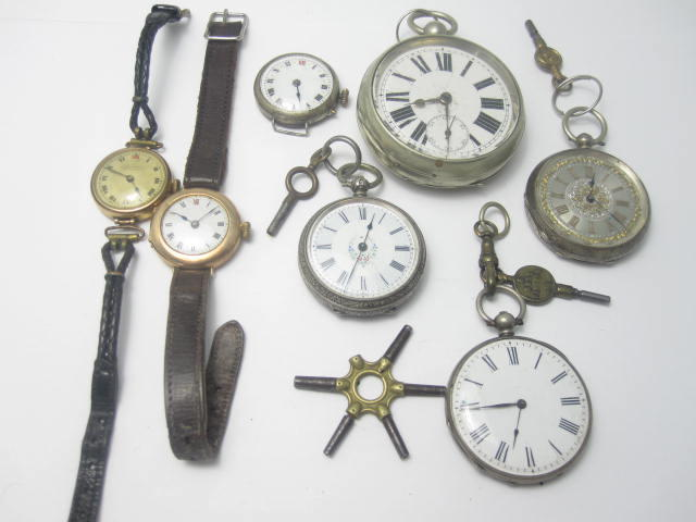A collection of watches and pocket watches (7)