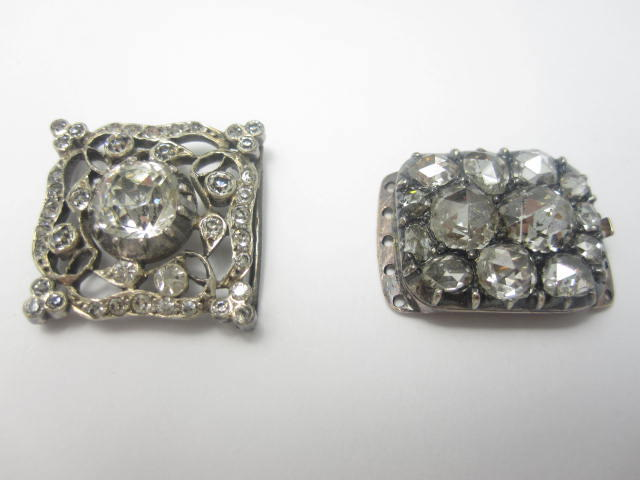 A 19th century diamond clasp (2)
